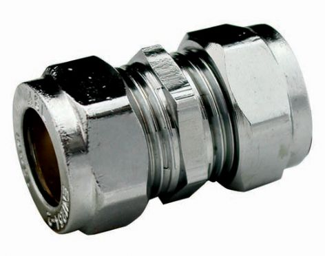 28mm compression chrome coupling fitting (Bag of 5=£27.00)